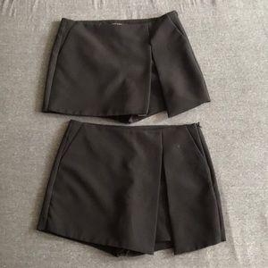 TWO! Black Zara Skorts